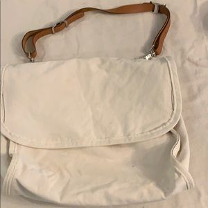 J crew canvas messenger bag